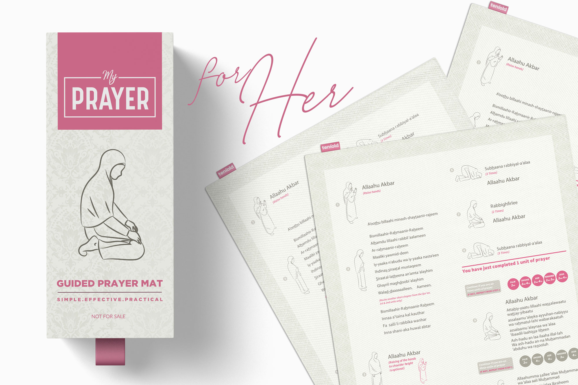 Muslim women revert learn how to pray with ease with the Guided Prayer Mat from Tenfold