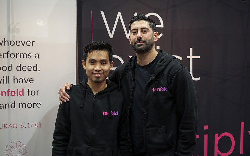 A picture of Ibrahim and Fazwan, who are part of the the Tenfold team