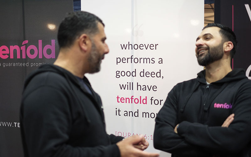 Tenfold Directors, Mohammad & Bassem share a small joke and laugh