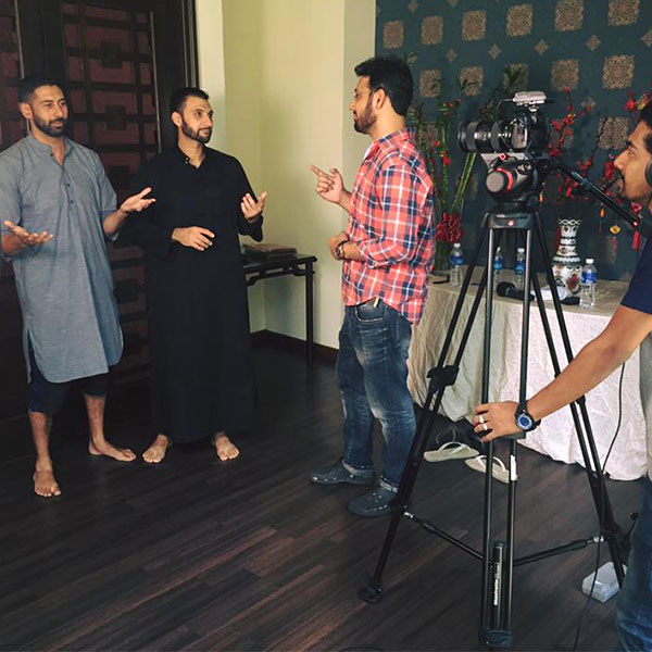 Tenfold Founders, Ibrahim and Mohammad on set shooting the videos for My Prayer