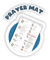 Kids can learn how to pray with this simple to follow prayer mat. Kids can learn salah fast and easy