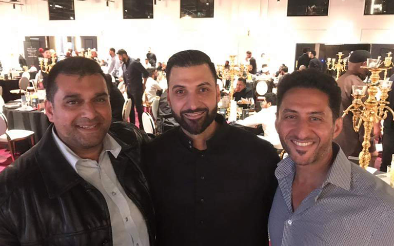 Tenfold CEO Mohammad Quadan along with Osman Kariola and Br Sammy posing at the Tenfold dinner